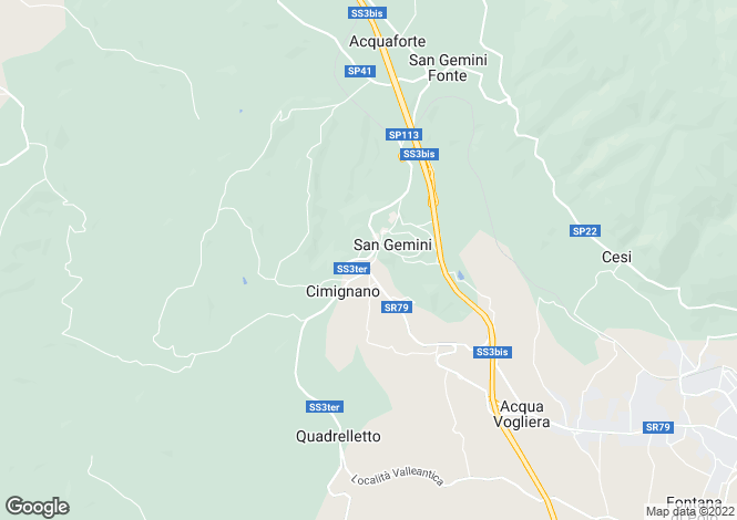 Map for Umbria, Terni, Terni