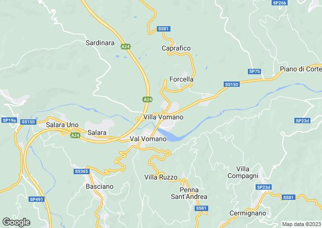 Map for Basciano, Teramo, Abruzzo