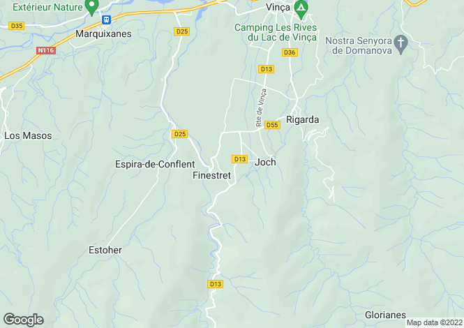 Map for Finestret, Pyrenees-Orientales, 66320, France