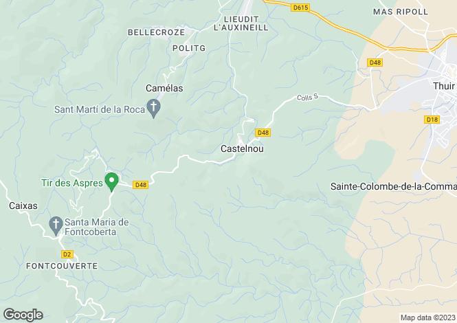 Map for castelnou, Pyrénées-Orientales, France