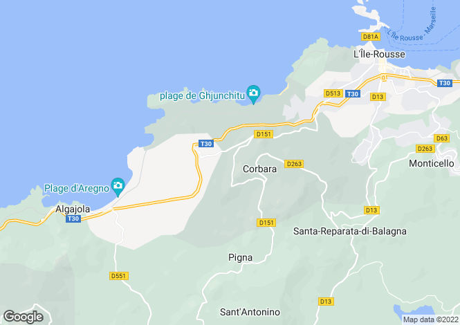 Map for CORBARA, CORBARA ,France