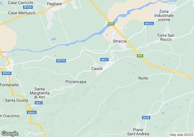 Map for Abruzzo, Teramo, Casoli di Atri