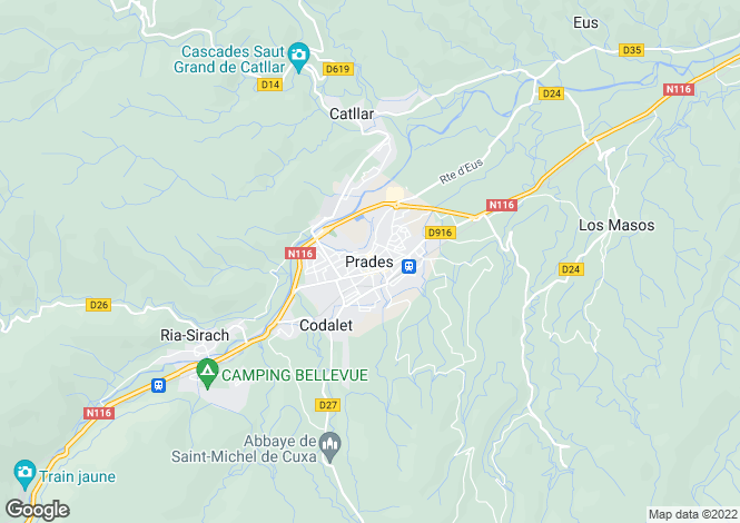 Map for Prades, Languedoc-Roussillon, 66500, France