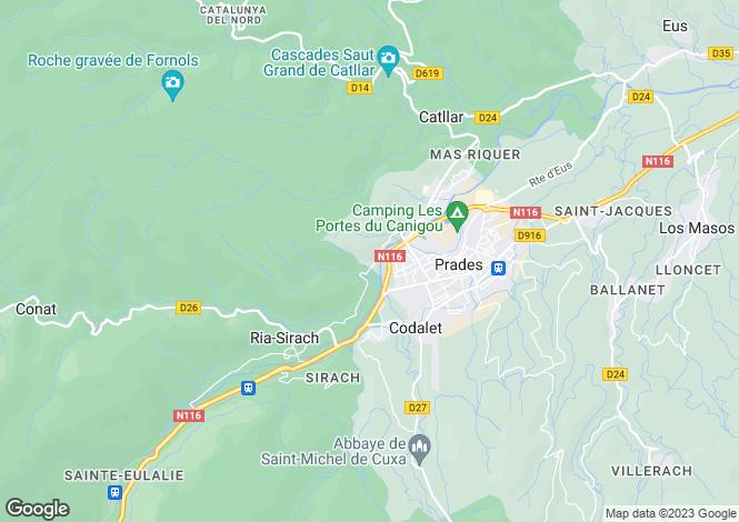 Map for Languedoc-Roussillon, Pyrénées-Orientales, Prades