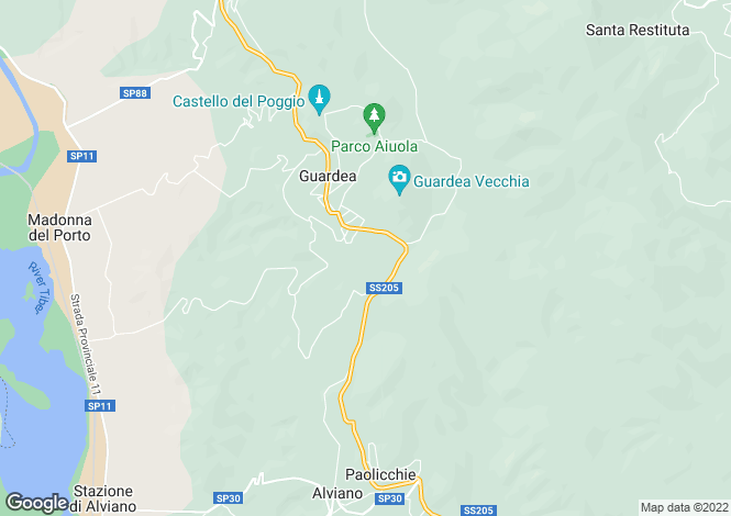 Map for Guardea, Terni, Umbria