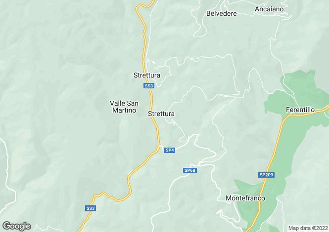 Map for Umbria, Terni, Ferentillo