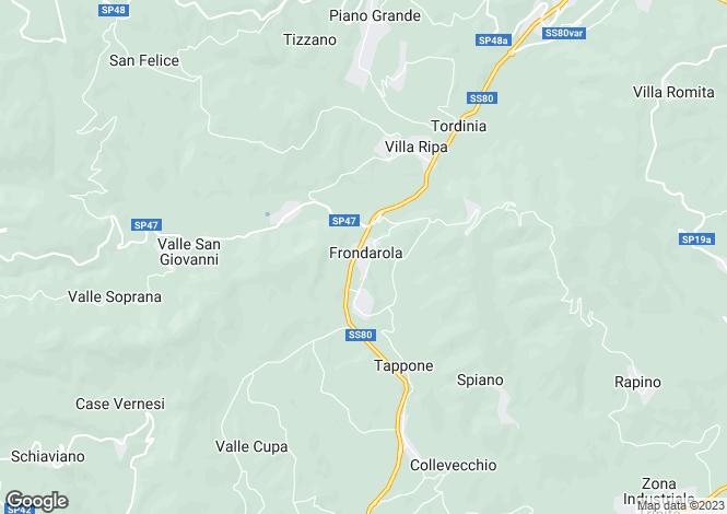 Map for Abruzzo, Teramo, Frondarola