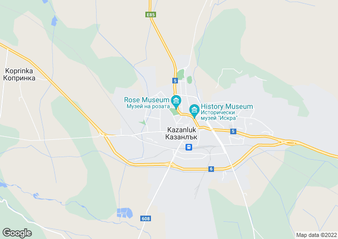 Map for Stara Zagora, Kazanluk