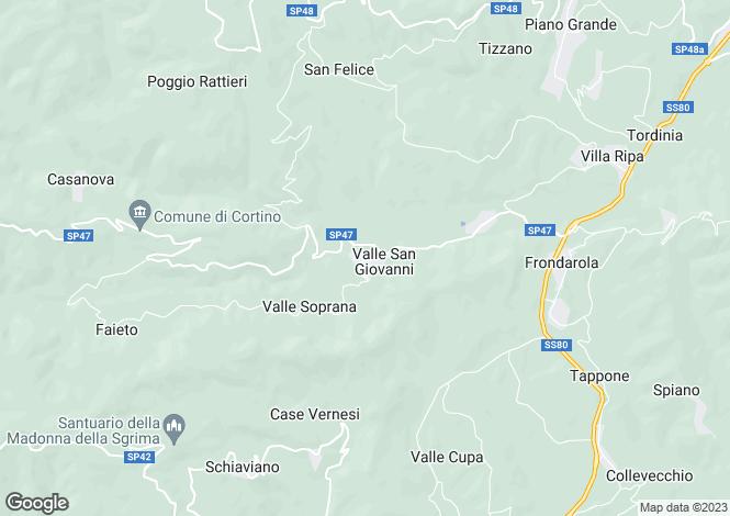 Map for Abruzzo, Teramo, Valle San Giovanni