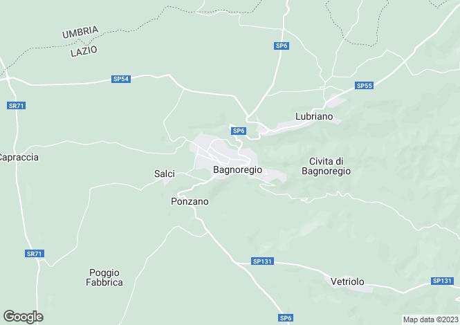 Map for Lazio, Viterbo, Bagnoregio
