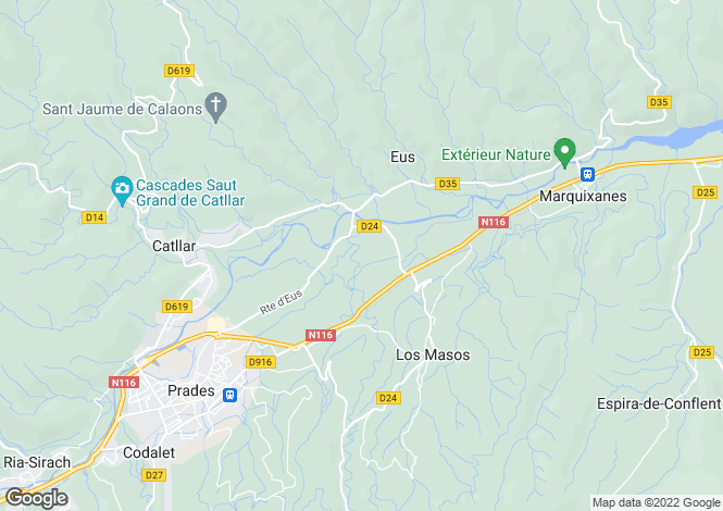 Map for los-masos, Pyrénées-Orientales, France