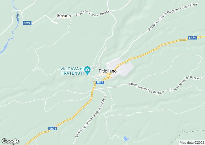 Map for Tuscany, Grosseto, Pitigliano