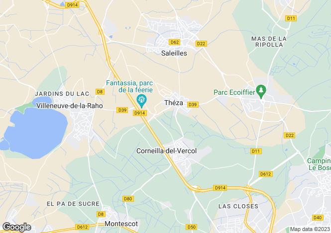 Map for CORNEILLA DEL VERCOL, Perpignan Area, Languedoc,