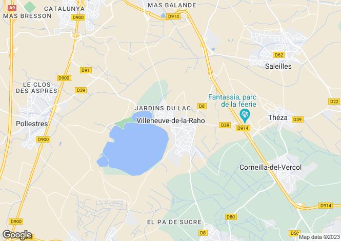 Map for Secteur: Villeneuve de la Raho, Pyrenees Orientales