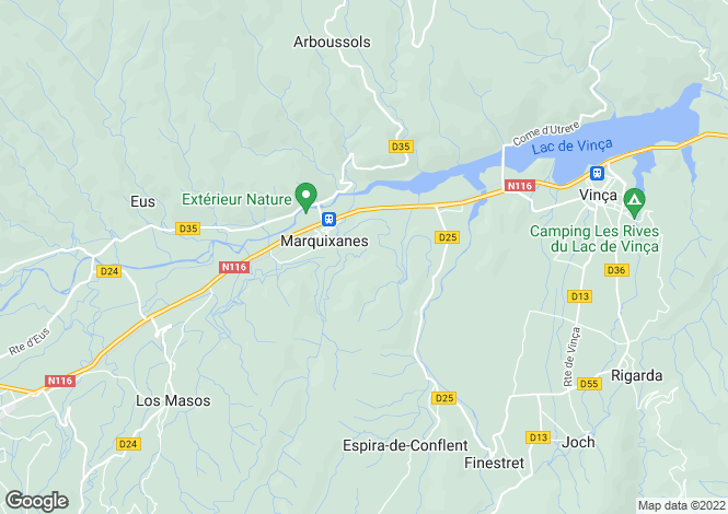 Map for marquixanes, Pyrénées-Orientales, France