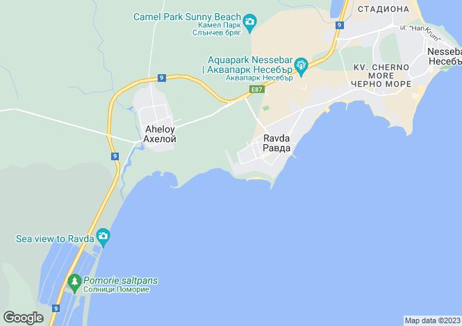 Map for Ravda, Burgas