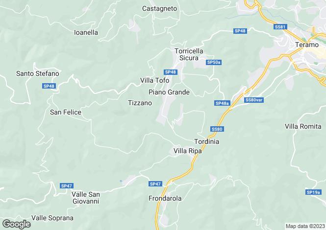 Map for Abruzzo, Teramo, Torricella Sicura