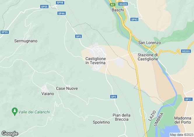 Map for Lazio, Viterbo, Castiglione in Teverina