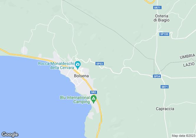 Map for Bolsena, Viterbo, Lazio