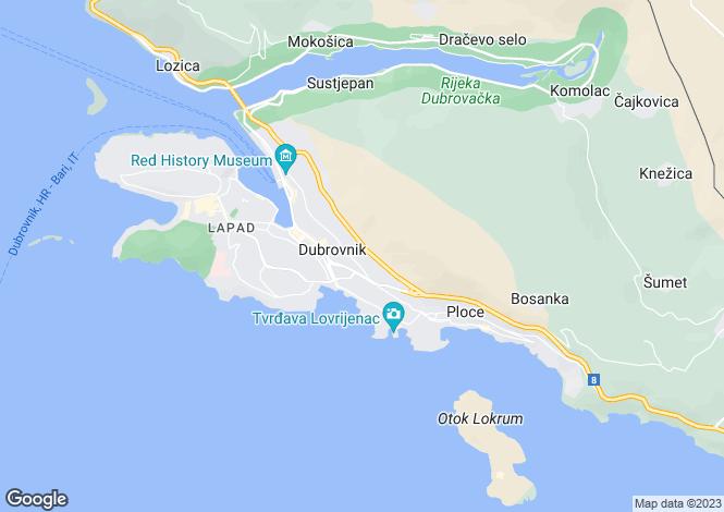 Map for Dubrovnik Old Town, Dubrovnik, Croatia