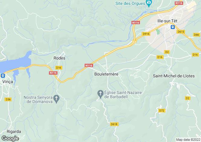 Map for bouleternere, Pyrénées-Orientales, France