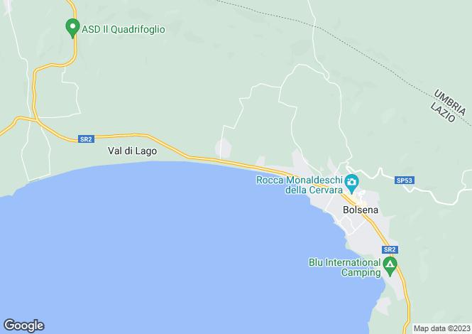 Map for Lazio, Viterbo, Bolsena