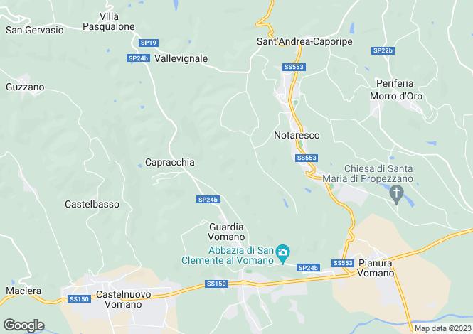 Map for Abruzzo, Teramo, Notaresco