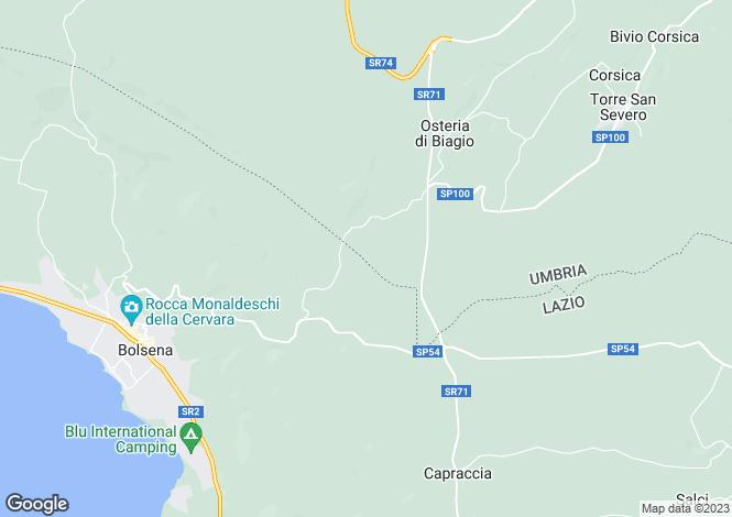 Map for Umbria, Terni, Orvieto
