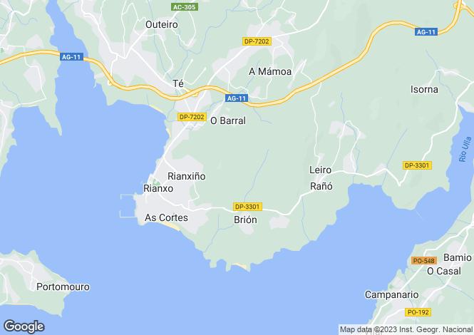 Map for Rianxo, A Coruña, Galicia