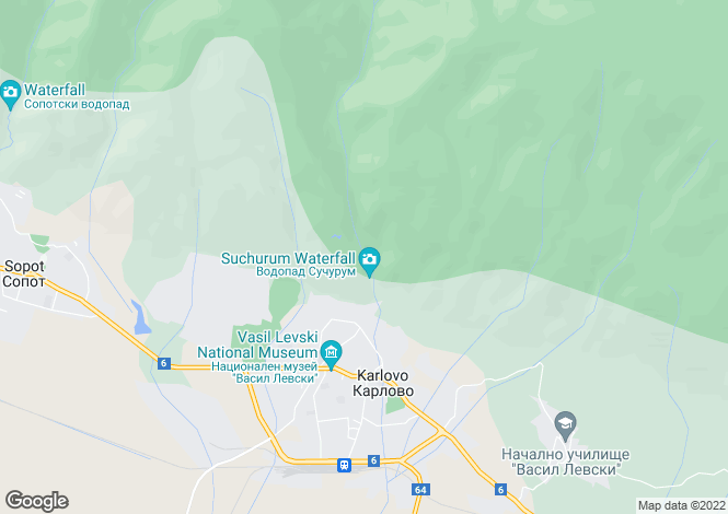 Map for Karlovo, Plovdiv