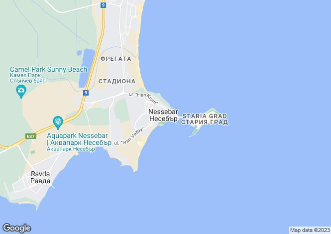 Map for Nesebur, Burgas
