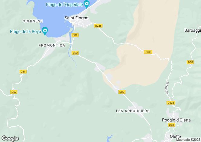 Map for Corsica, Haute-Corse, St-Florent
