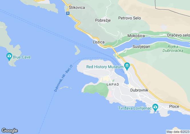 Map for Dubrovnik, Lapad, Croatia