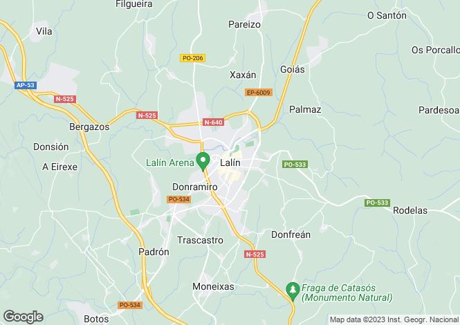 Map for Galicia, Pontevedra, Lalín