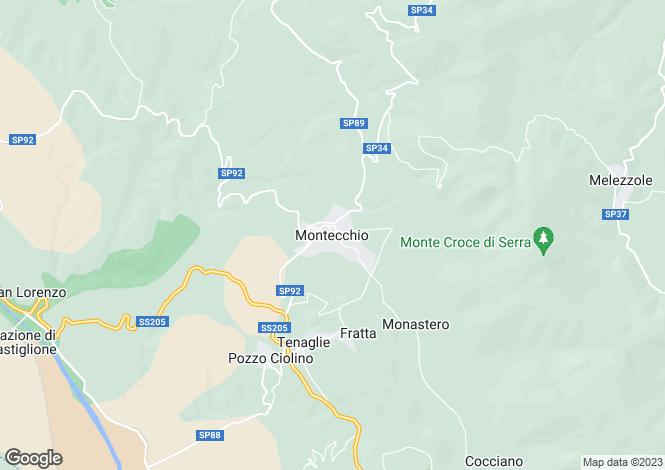 Map for Montecchio, Terni, Umbria