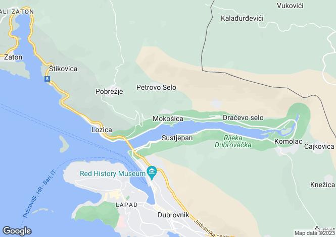 Map for Mokosika, Dubrovnik, Croatia