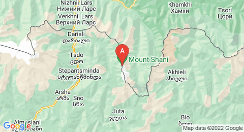 map of Mount Shani (Russia)