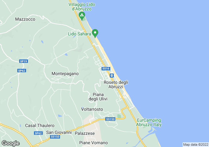 Map for Abruzzo, Teramo, Roseto degli Abruzzi