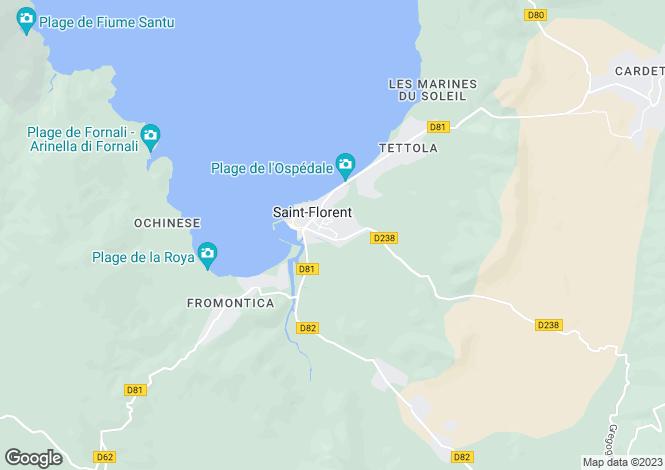 Map for SAINT FLORENT ,France