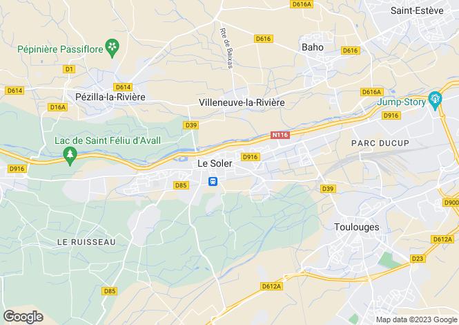 Map for LE SOLER, Perpignan Area, Languedoc,