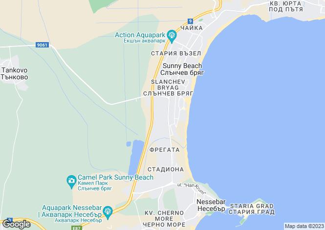 Map for Sunny Beach, Burgas