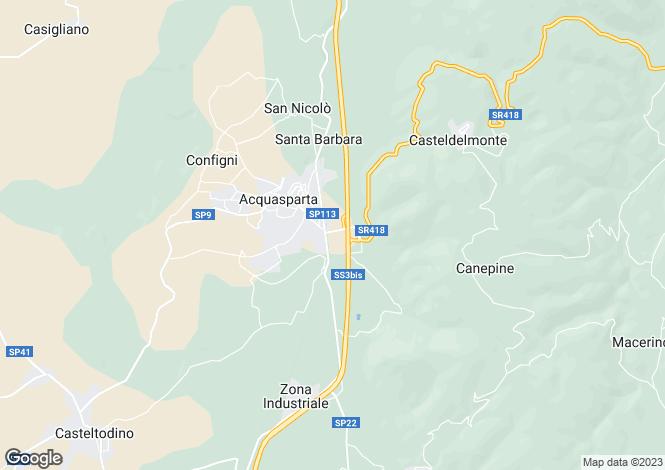Map for Acquasparta, Umbria, Italy
