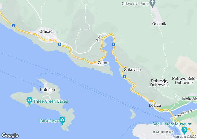 Map for Stikovica, Zaton, Dubrovnik- Neretva, Croatia