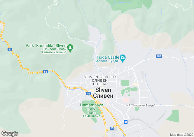 Map for Sliven, Sliven