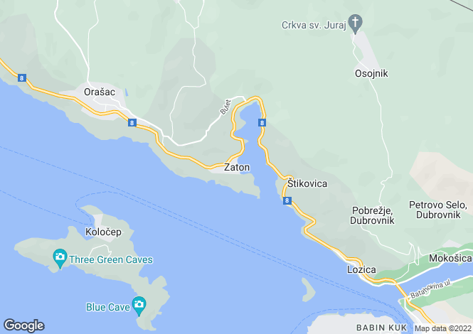 Map for Zaton, Dubrovnik, Croatia