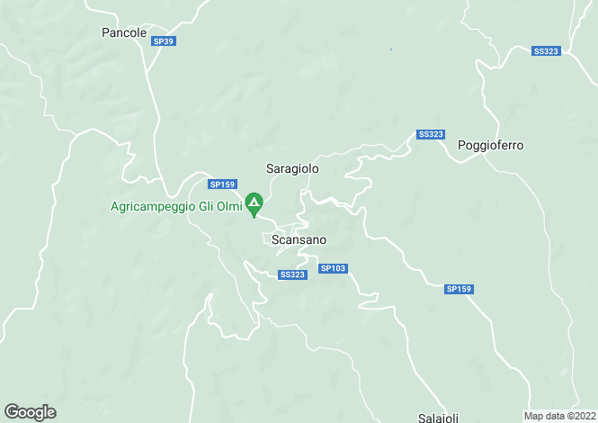 Map for Strada Statale 323, Scansano, Tuscany