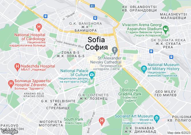 Map for Sofia Region, Sofiya