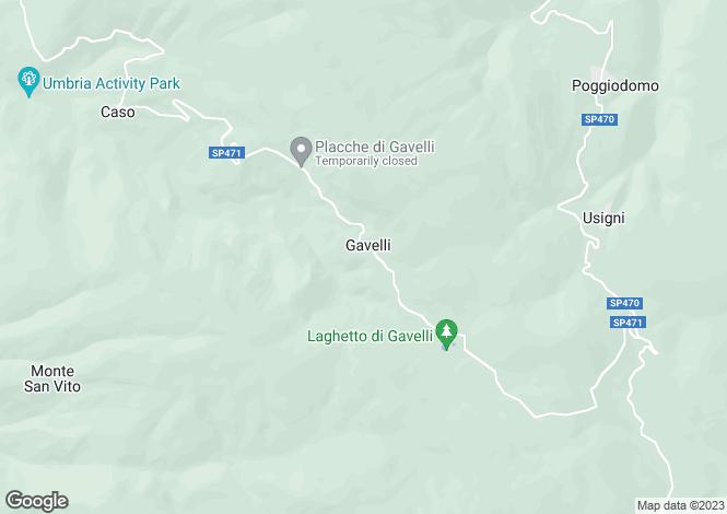 Map for Umbria, Perugia, Sant`Anatolia di Narco