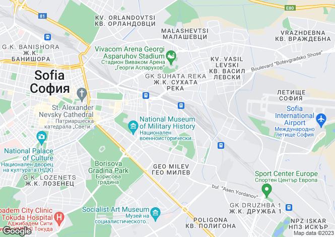 Map for Tserovo, Sofiya