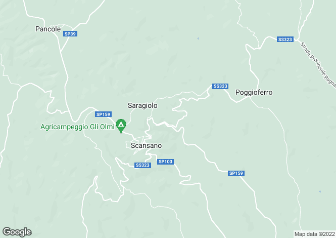 Map for Scansano, Grosseto, Tuscany